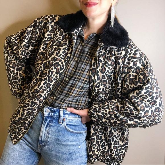 Vintage 90s Oversized Jacket Womens L Animal Print Jacket Snake Skin Baggy Jacket Patterned Parka Jacket large Pastel Green Oversize Parka L